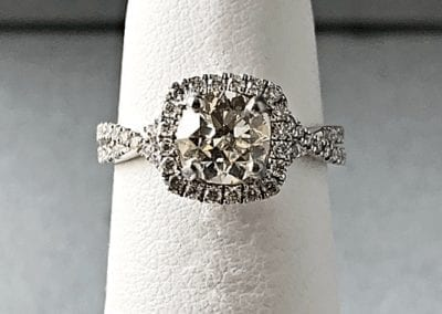 engagement ring old european