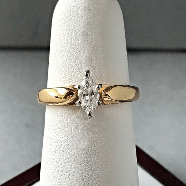 engagement ring marquise cut